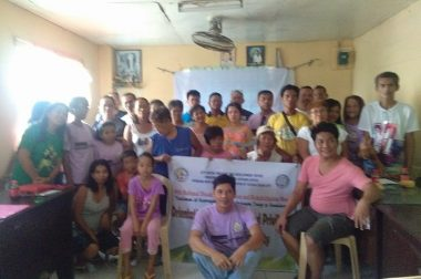 Catbalogan Persons with Disabilities Federation reaches out the Persons with Disabilities in the barangays